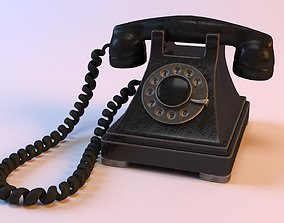 3D model Rotary Old Phone with Materials technology