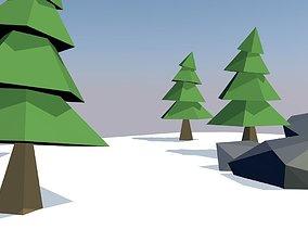 Low polygon tree navidad 3D model