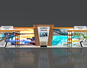 3D Booth Exhibition Stand Stall 16x4m Height 350 cm 1 1