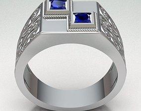 3D printable model ring-gold Ring Man