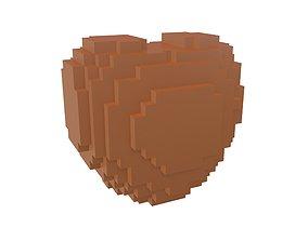 3D model Voxel Heart v1 003