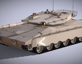 Merkava 4 Israel Defence Forces Main Battle low-poly 2