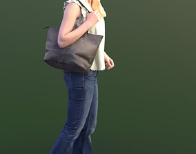 3D model Kim 10208 - Walking Casual Woman