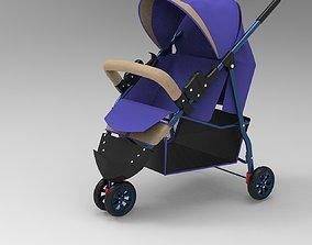 coche para bebe 3D