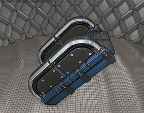 Sci-Fi Stairs - 30 - Blue Version 3D model