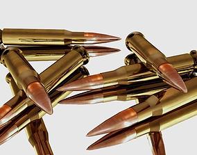 3D asset Glossy Bullets