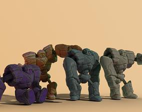 3D asset Goly the Golem