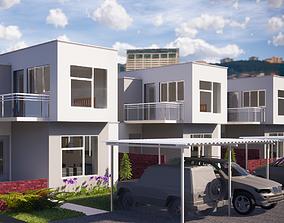 Townhouse concept - modern 3D model