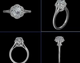 jewelry 3D printable model Engagement Ring