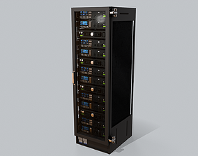 3D asset Sci Fi Server Computer