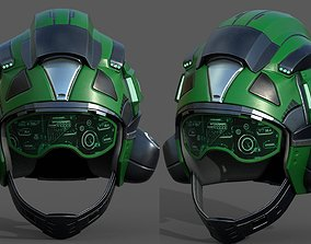 Helmet pilot scifi fantasy armor military 3D model 2
