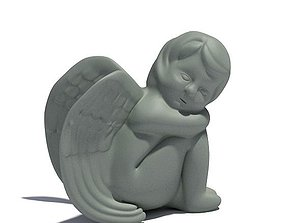 3D Young Angel Sculpture