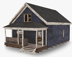 3D model Abandoned Poor House With Interior