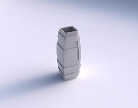 Vase rectangle with sharp ribbons 3D print model