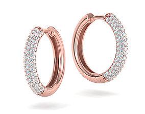 Diamond Hoop Earrings 20mm size printable 3dmodel