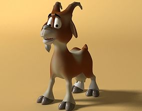 Cartoon Goat Rigged and Animated 3D asset