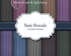 Basic Brocade Seamless Fabric Textures 3D model