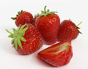 3D Red Strawberries