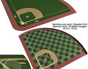 3D model Baseball Field Stadium