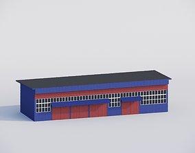 3D model Rapair shops low poly