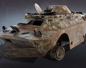 BRDM-2 Burnt 3D asset