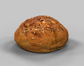 3D asset Pistolet Bread Roll 2