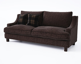 3D model Sofa with cushions