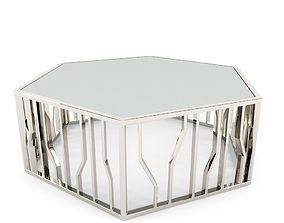 3D Reflections Shaped Cocktail Table