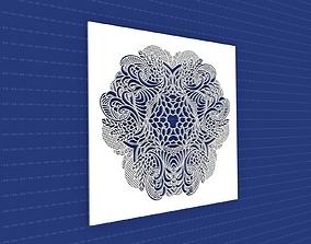 Mandala art 3D model