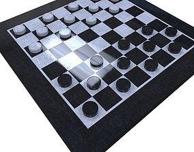 Checkers Set 3D model