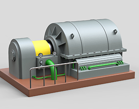 3D Industrial Turbocharger