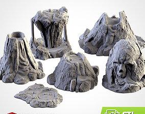 3D printable model VOLCANIC TERRAIN