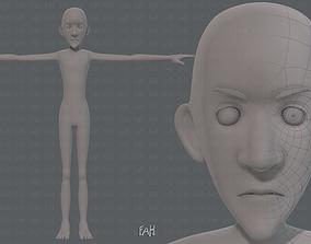 3D model Base mesh man character V16