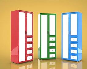 Wardrobe two-door 3D model