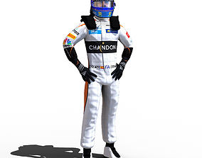 3D model Fernando Alonso 2018