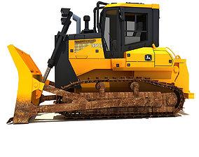 3D model Yellow John Deere Waste Handler