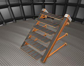 Sci-Fi Stairs - 13 - Orange Version 3D model