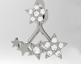 3D print model Earring Jacket with Stars