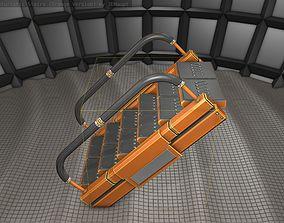 Sci-Fi Stairs - 7- Orange Version 3D asset