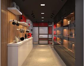 Store high-end modern 3D model