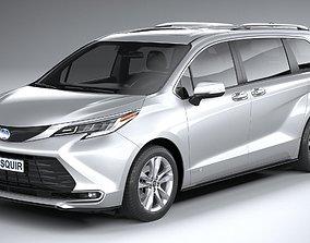 3D Toyota Sienna 2021