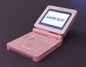 Gameboy Advance SP 3D asset