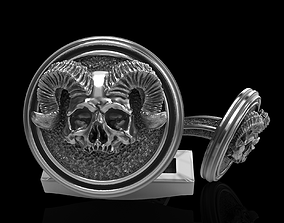 3D print model skull cufflinks printable