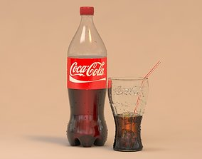 3D Coca-Cola bottle and cup