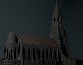 Neogothic church Hallgrimskirkja 3D model