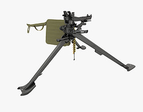 3D model tripod mount for machine gun