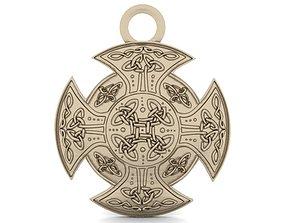 3D printable model Celtic knot pendant 2