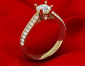 Slim Female Engagement Ring 3D printable model