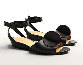 Bijou Leather Strap Sandals 3D model