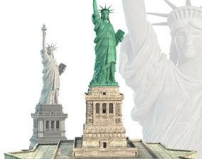 3D model Statue of Liberty historic